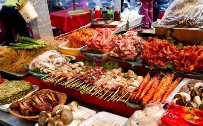 Cortesia de la mesa en Corea