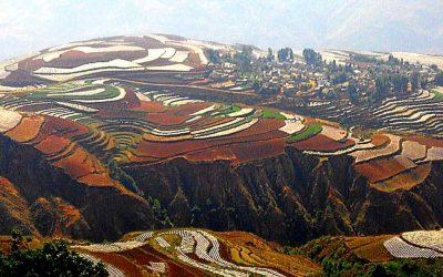 Las tierras de colores del distrito Dongchuan