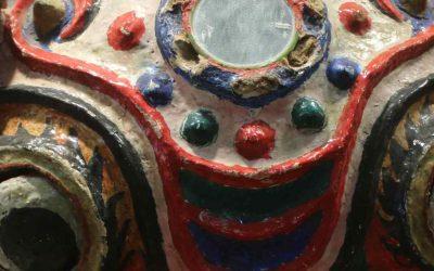 Máscaras funerarias de la minoría Zhuang en el Museo de las Minorías de Kunming