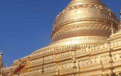 La maravillosa Pagoda Dorada de Shwe Zigon en Bagan
