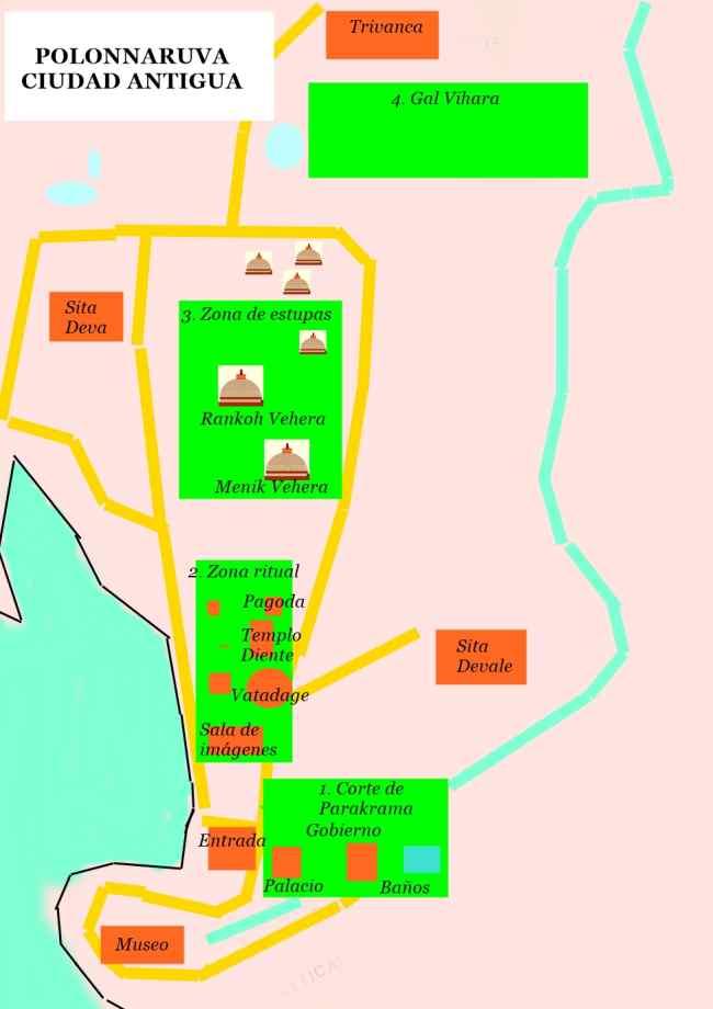 mapa polonnaruva