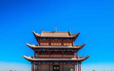 El paso de Jiayuguan- la Gran Muralla en la Ruta de la Seda