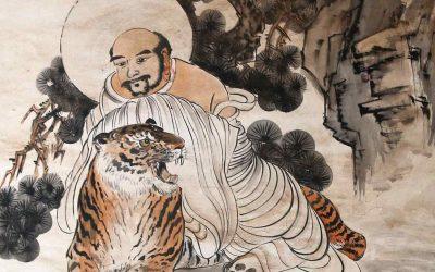 ¿Qué hacen cuatro tigres en un templo budista chino?